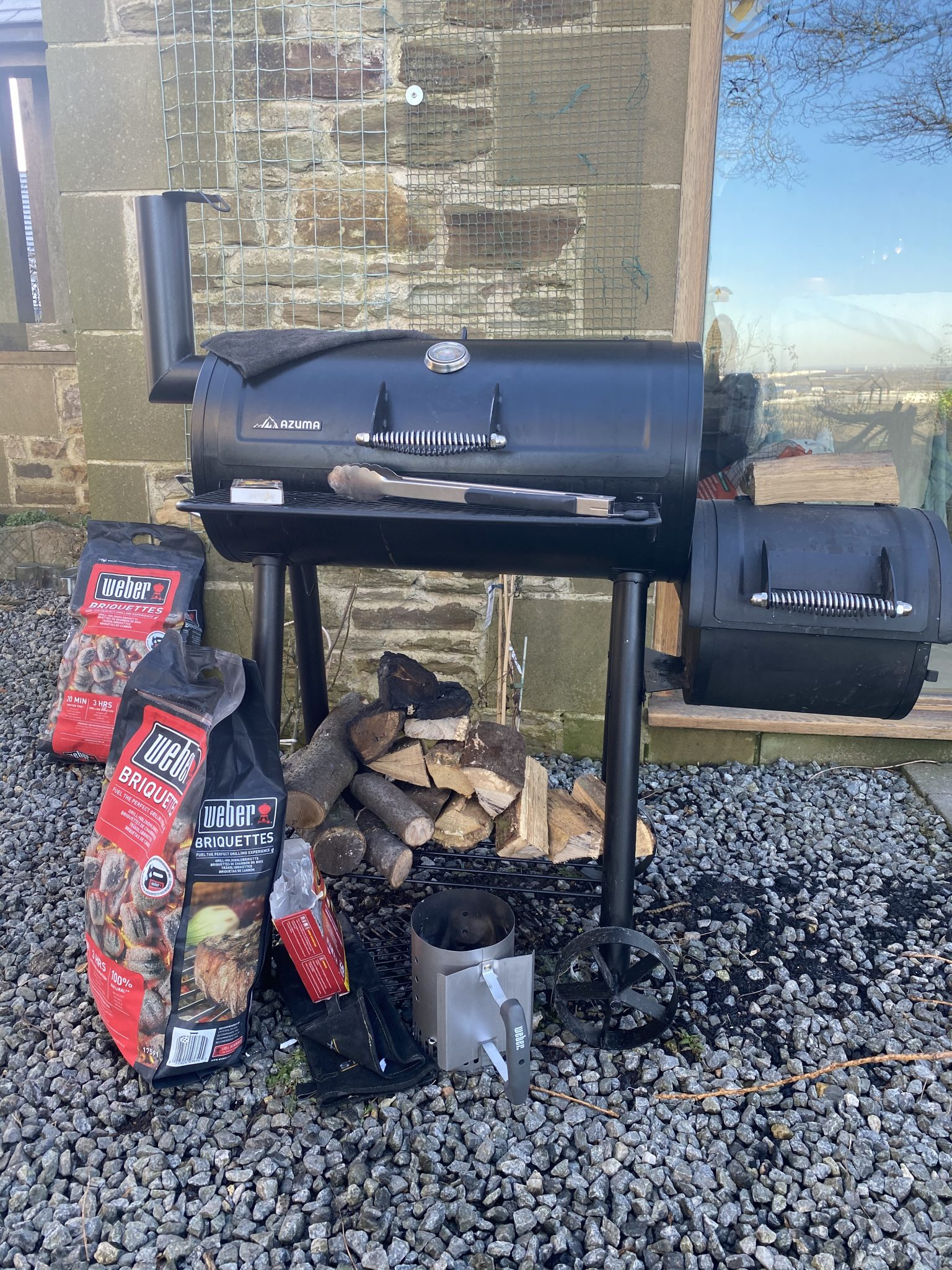 Barbecue for Smoking Food